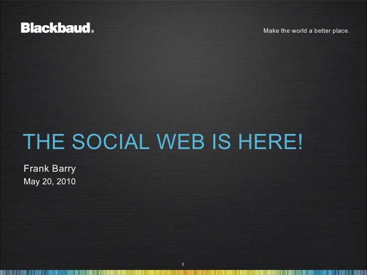 The Social Web is Here!