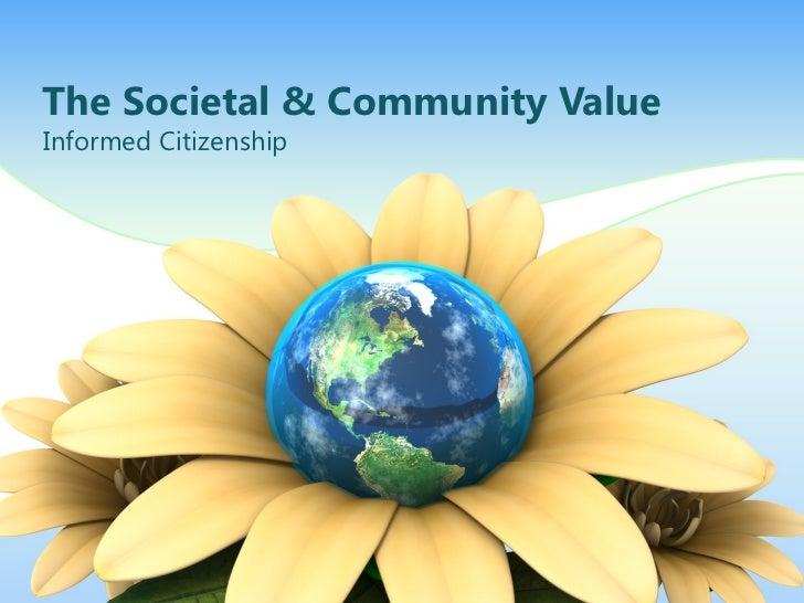 The societal & community value f11