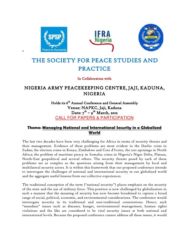 The society for peace studies and practice.2