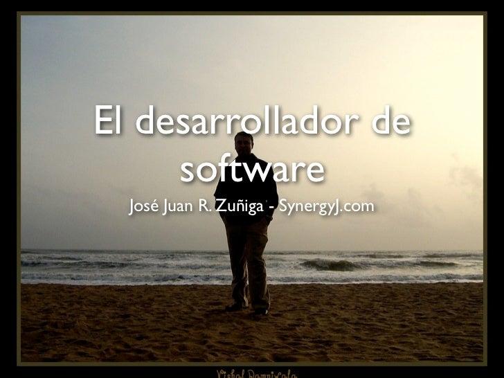 El desarrollador de     software  José Juan R. Zuñiga - SynergyJ.com