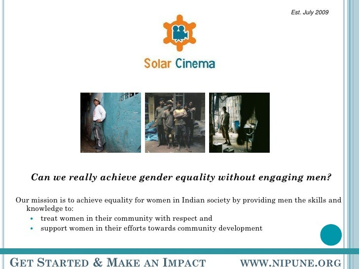 Solar Cinema - achieving equality for women in Indian society by providing training to men
