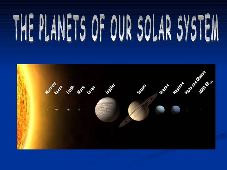 "OUR SOLAR SYSTEM              CONSISTS OF    The sun    Eight official planets    At least three ""dwarf planets""    Co..."