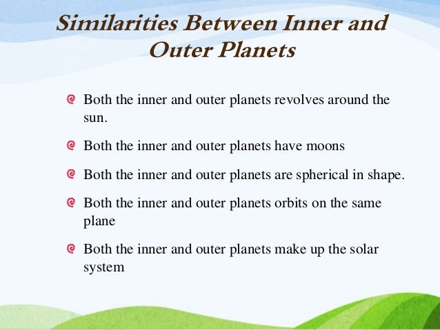 comparison inner and outer planets - photo #2