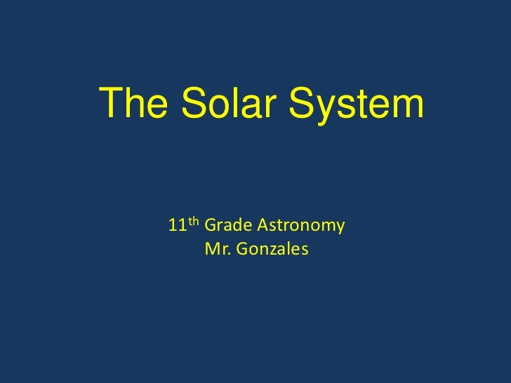 The Solar System PowerPoint Tutorial
