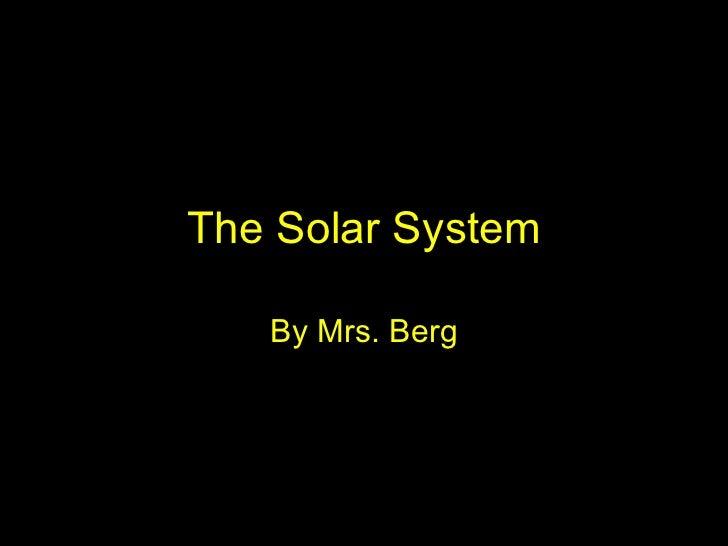 The solar system vocabulary  berg