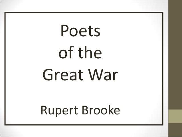 Poets  of theGreat WarRupert Brooke