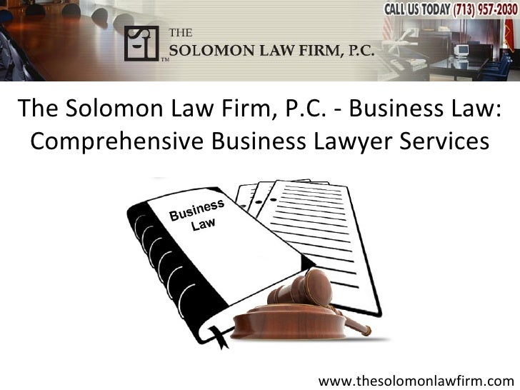 The Solomon Law Firm, P.C. - Business Law: Comprehensive Business Lawyer Services                          www.thesolomonl...