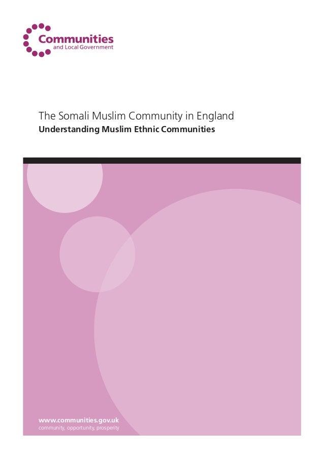The Somali Muslim Community in England