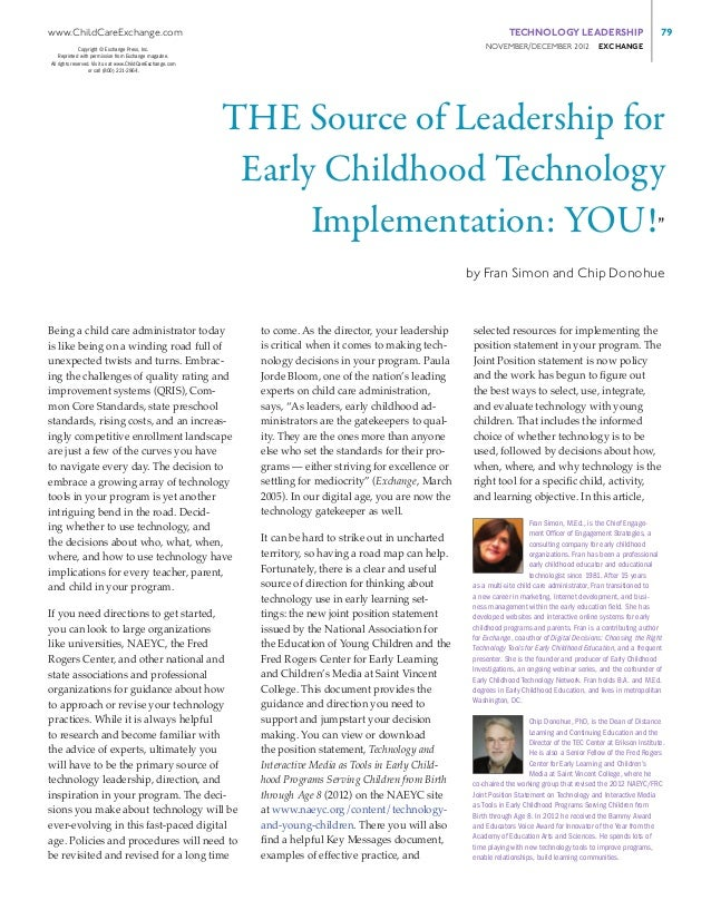 The Source of Technology Implementation Leadership: You!