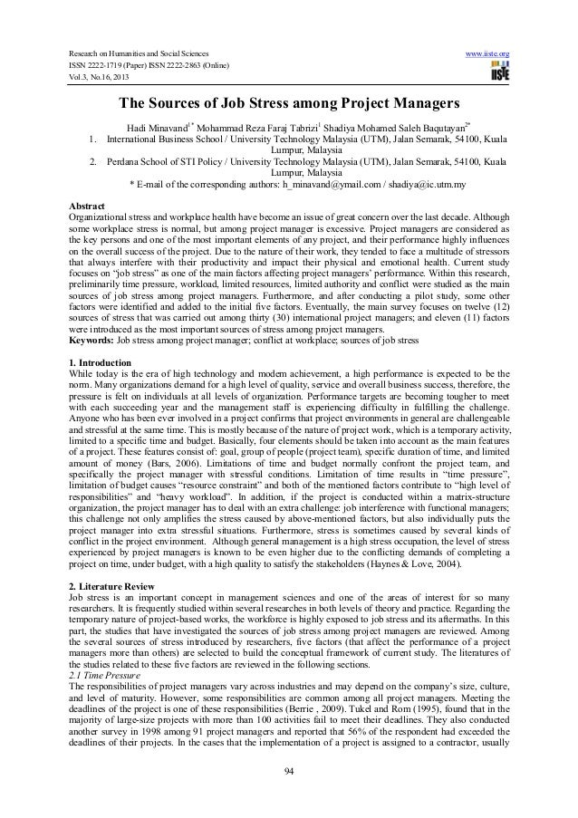 Research on Humanities and Social Sciences ISSN 2222-1719 (Paper) ISSN 2222-2863 (Online) Vol.3, No.16, 2013  www.iiste.or...