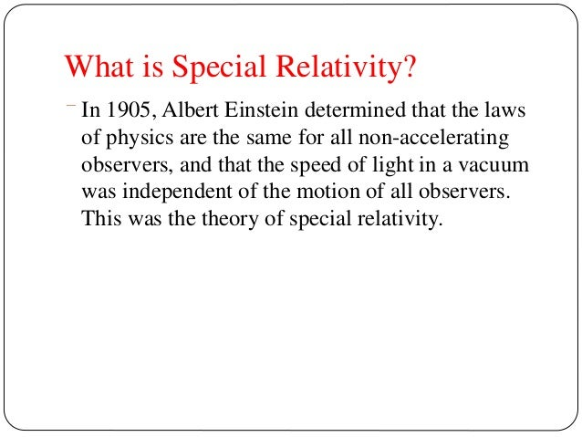 What is the Theory of Relativity?