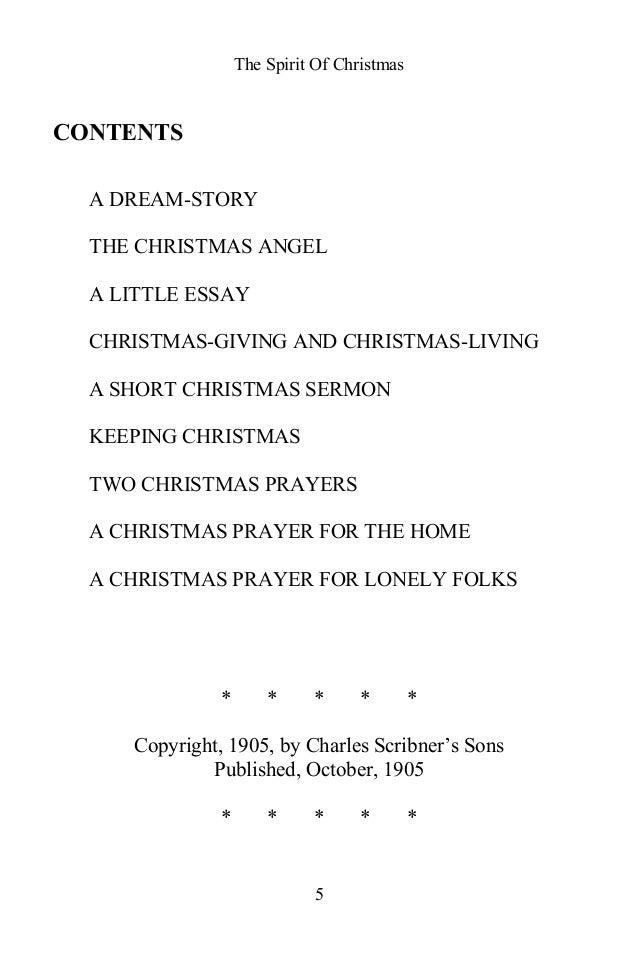 essay on christmas time