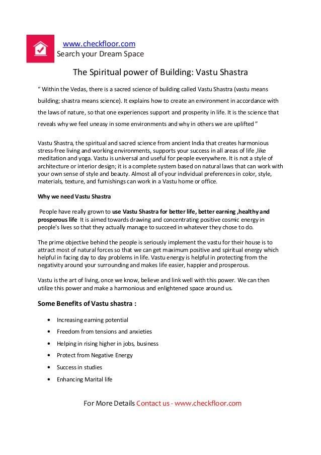 The spiritual power of building vastu shastra