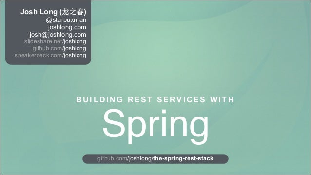 REST APIs with Spring