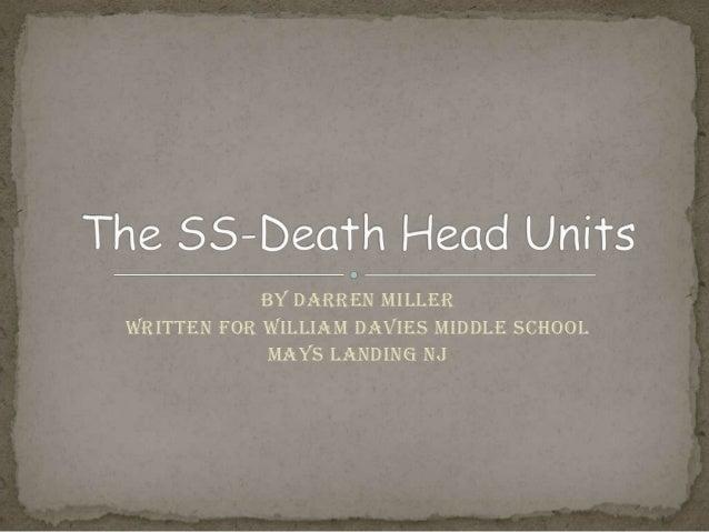 By Darren MillerWritten for William Davies Middle SchoolMays Landing NJ