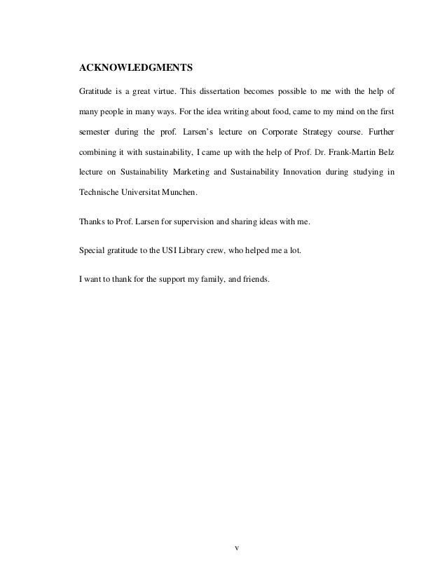 Acknowledgments thesis