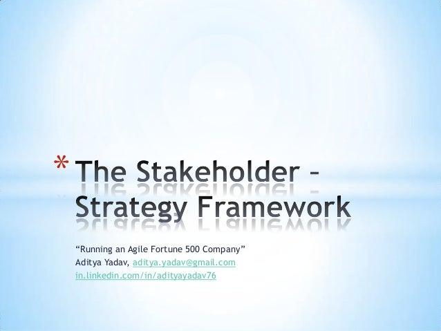 The Stakeholder - Strategy Framework - Aditya Yadav