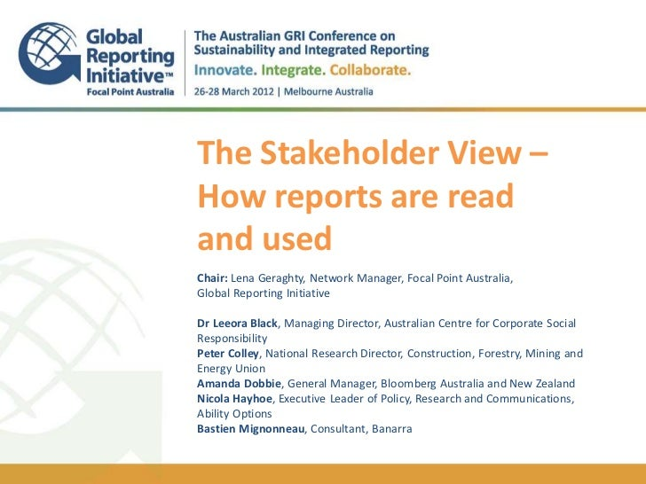 1The Stakeholder View –                                                                               // TITLEon Bloomberg...