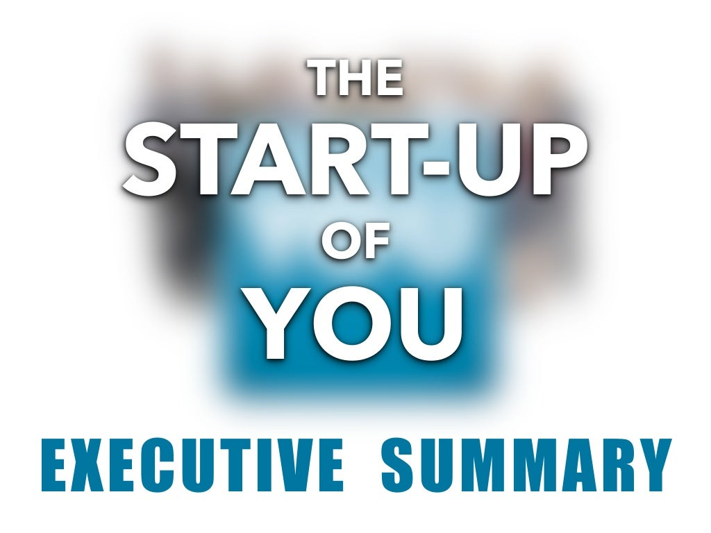 Start-up of You, Visual Summary