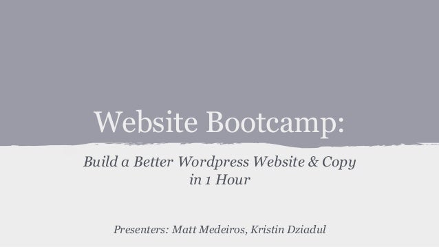The Startup Platform Website Bootcamp