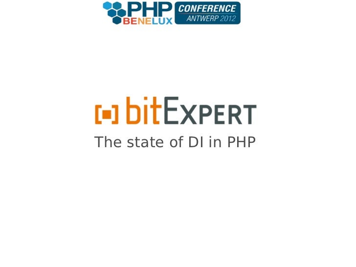 The state of DI in PHP - phpbnl12