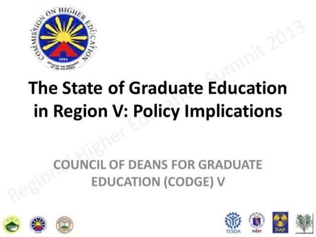 The State of Graduate Education in Region 5