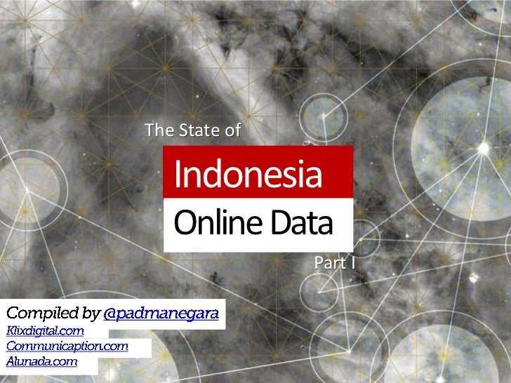 The State of   Indonesia   Online Data               Part I