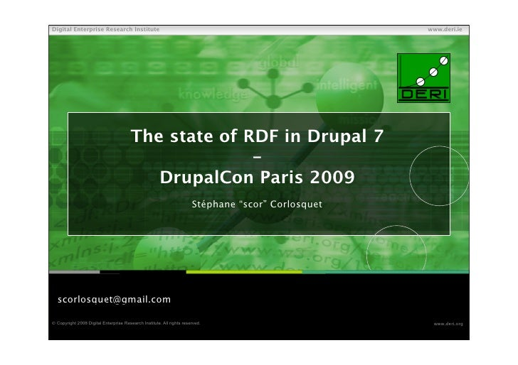 The State Of Rdf In Drupal 7