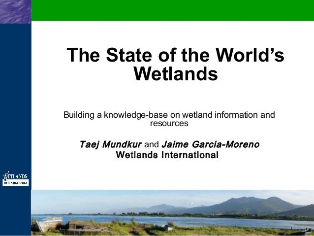 The State of the World's Wetlands - Building a knowledge-base on wetland information and resources