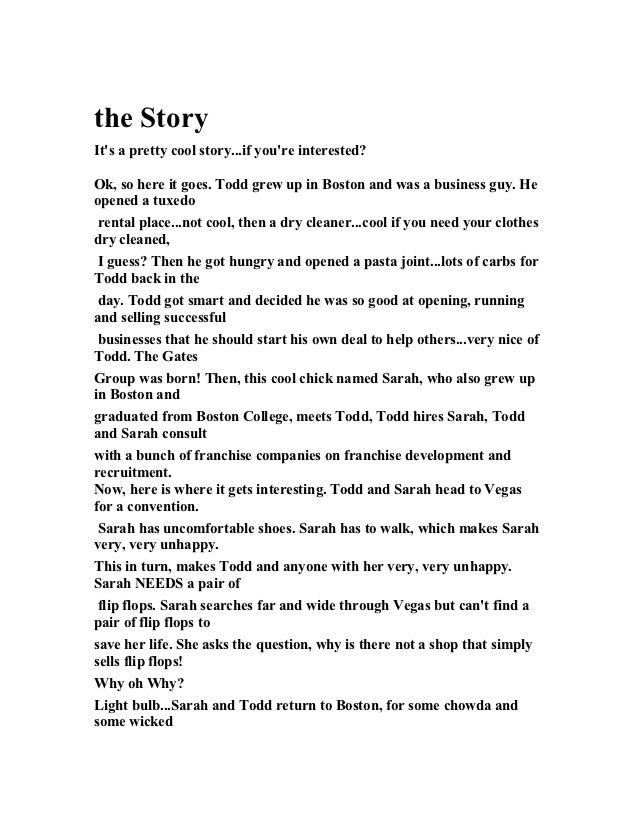 The story (for slide) gust