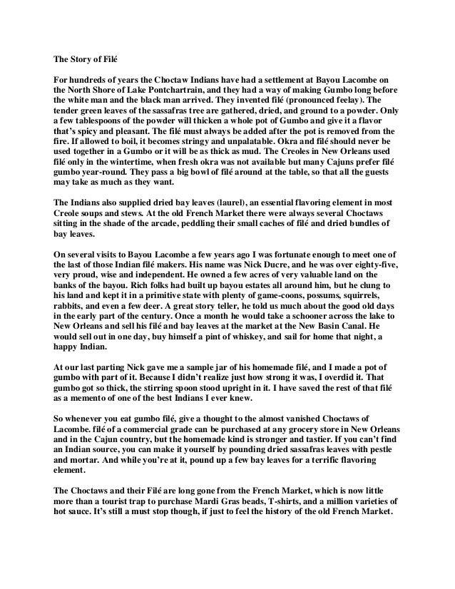 The story of filé