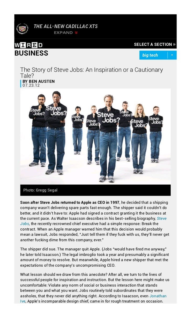 SELECT A SECTION »BUSINESS                                                                big tech The Story of Steve Jobs...