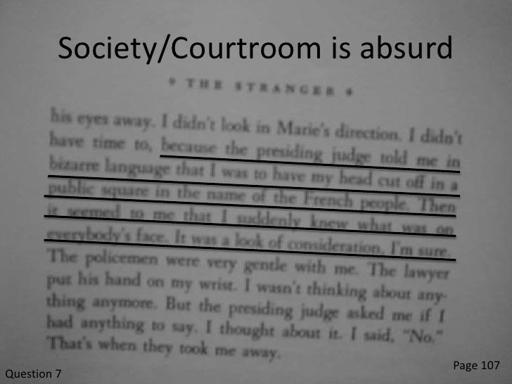 an analysis of meursaults punishment in the outsider by albert camus Analysis of meursault's catharsis 22 february 2013 in albert camus's, the stranger had gotten used to not smoking and it wasn't a punishment anymore.