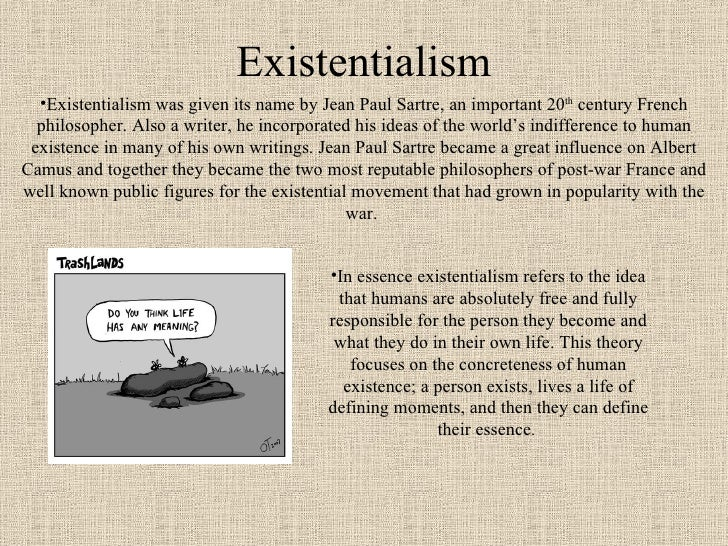 Existentialism According to Two Philosophers - Essay Example