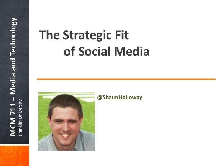 The Strategic Fit of Social Media