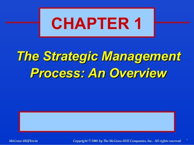 The strategic management process(an overview)