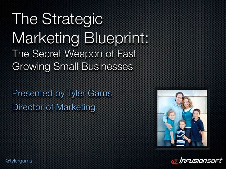 The Strategic  Marketing Blueprint:  The Secret Weapon of Fast  Growing Small Businesses  Presented by Tyler Garns  Direct...