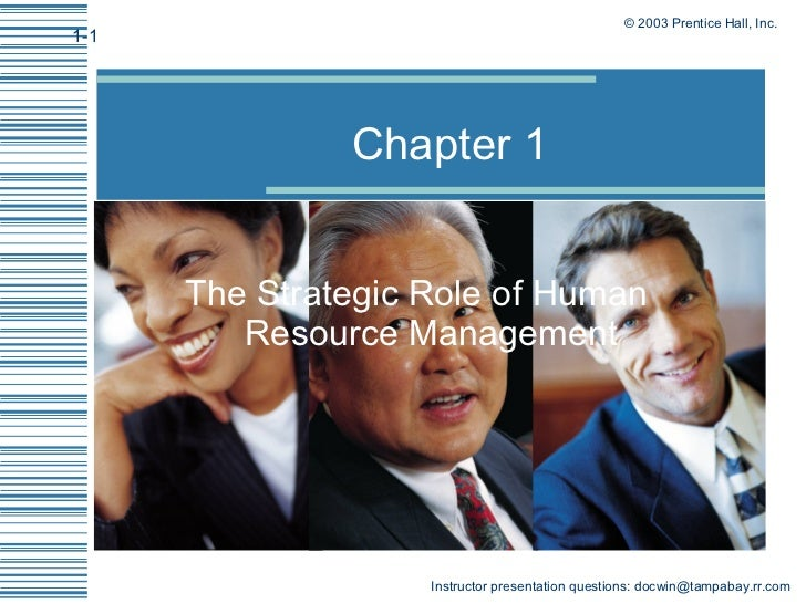 Chapter 1 The Strategic Role of Human Resource Management
