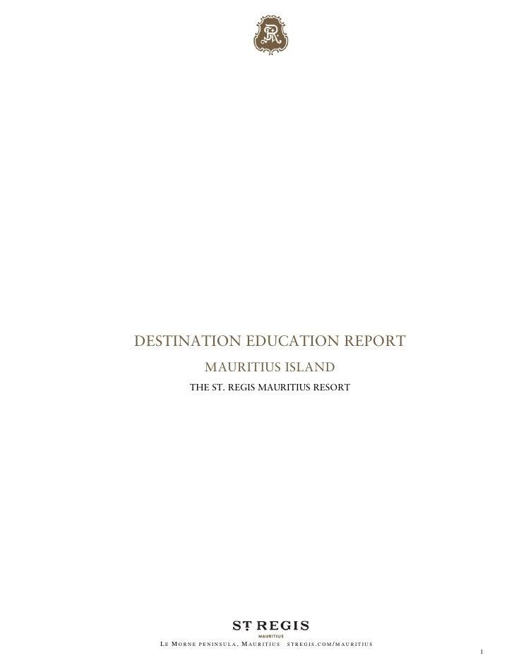 Destination Education Report: Mauritius