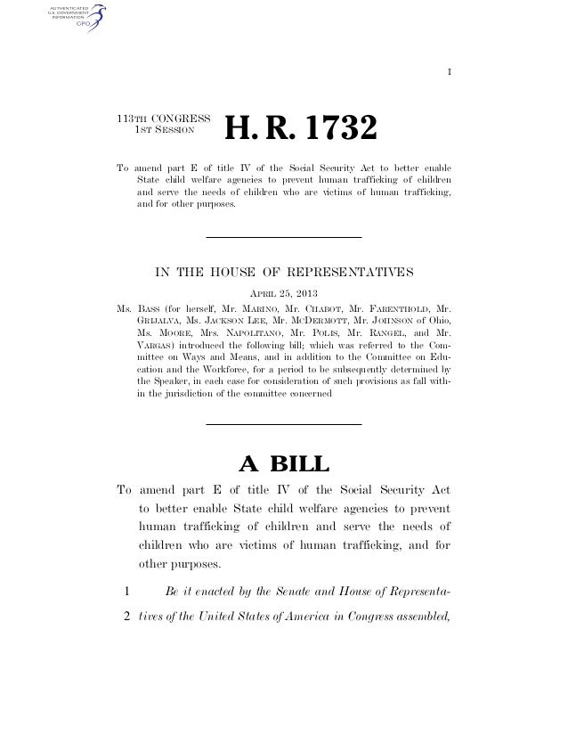 I 113TH CONGRESS 1ST SESSION H. R. 1732 To amend part E of title IV of the Social Security Act to better enable State chil...
