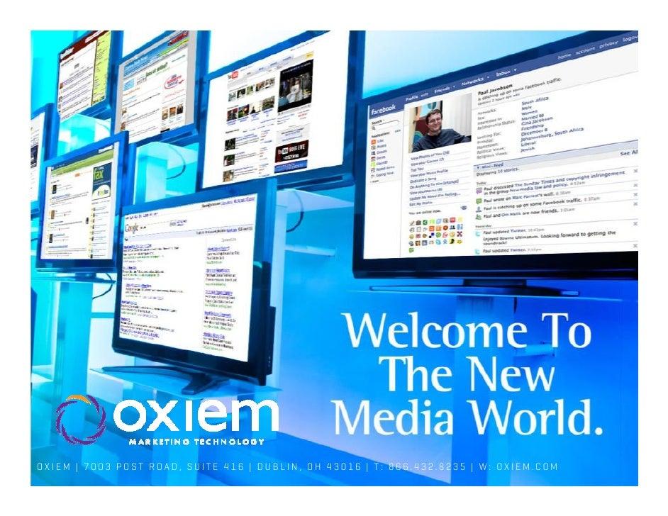 OXIEM   7003 POST ROAD, SUITE 416   DUBLIN, OH 43016   T: 866.432.8235   W: OXIEM.COM                                     ...