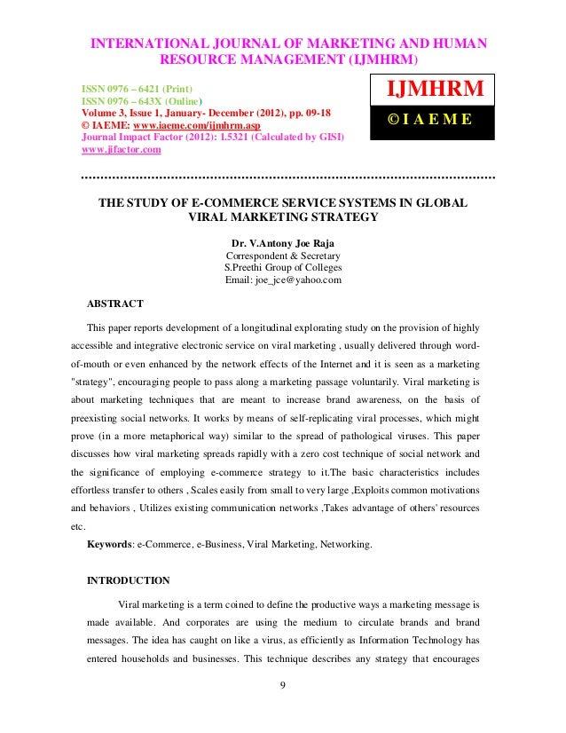 International Journal of Marketing and HumanOF MARKETING AND HUMAN        INTERNATIONAL JOURNAL Resource Management (IJMHR...