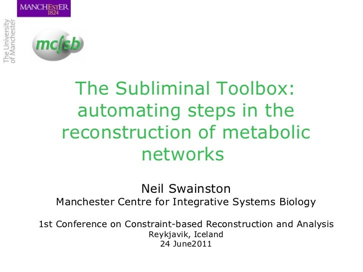 The Subliminal Toolbox: automating steps in the reconstruction of metabolic networks