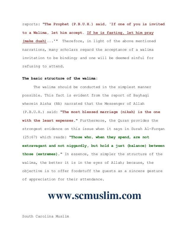 The Sunnah Of The Islamic Walima Wedding Reception Scmuslim