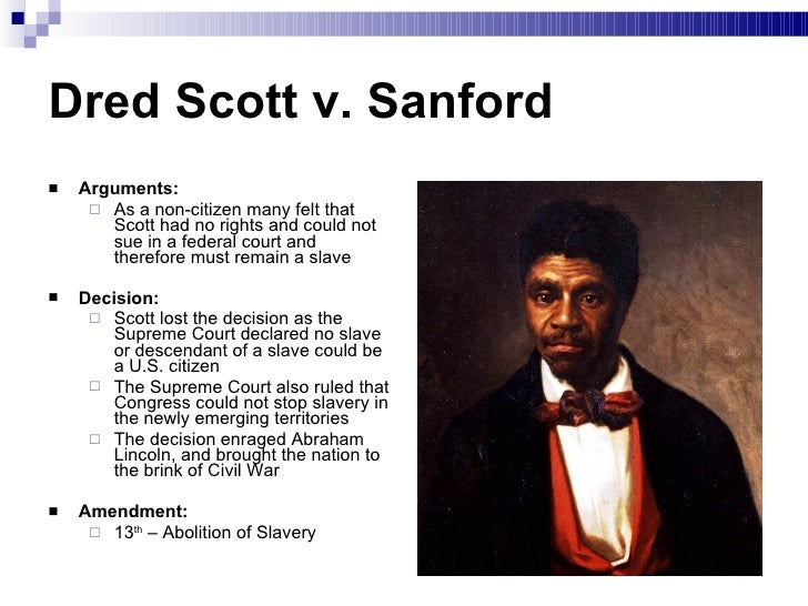the dred scott decision essay Dred scott moved to st louis with in their decision to sue, and the blow family, dred's original project to preserve the original papers.