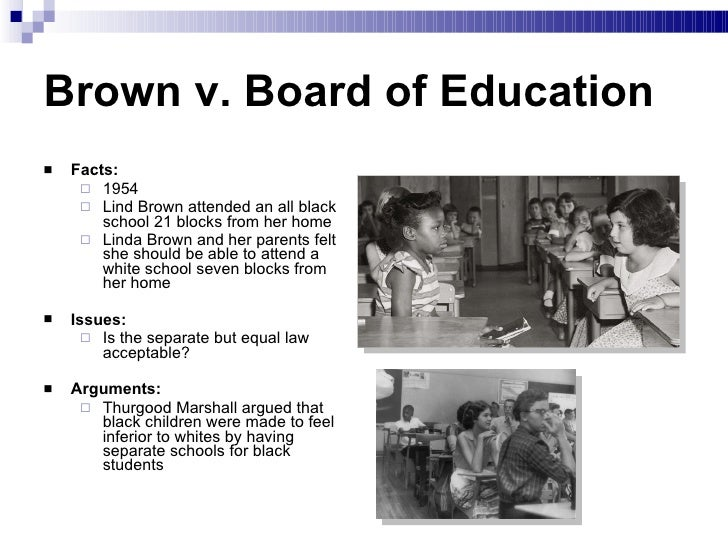 brown v. board of education essay questions Free essay: brown vs board of education although slavery was finally ended at the end of the nineteenth century black people found themselves still in the.
