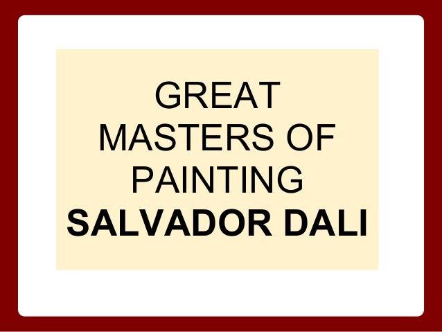 The surrealist phenomenon   salvador dali