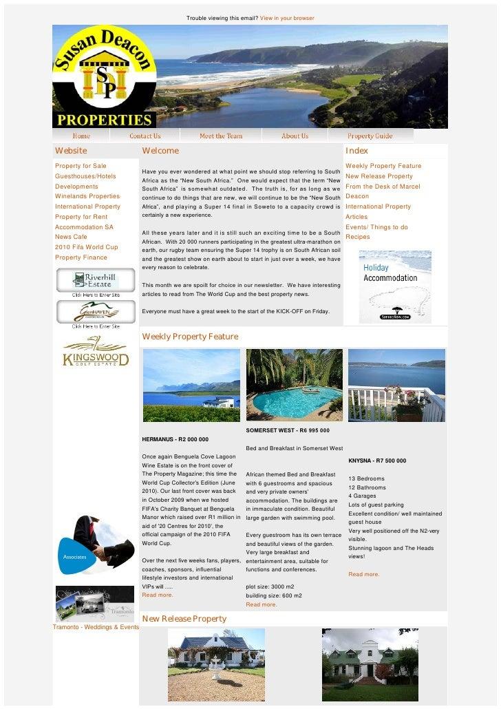 SDP Newsletter - 7 June 2010