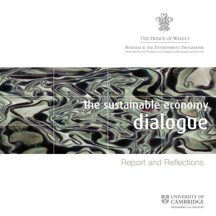 the sustainable economy          dialogue       Report and Reflections