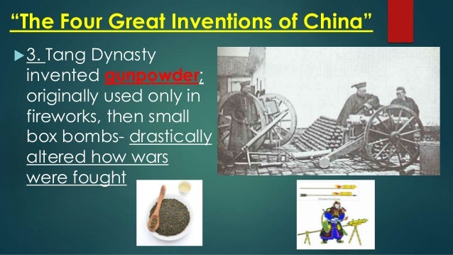 Dynasty Inventions Tang Dynasty Invented
